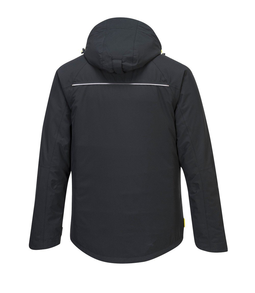 PPG Workwear Portwest DX4 Winter Jacket DX460 Black Colour Back View
