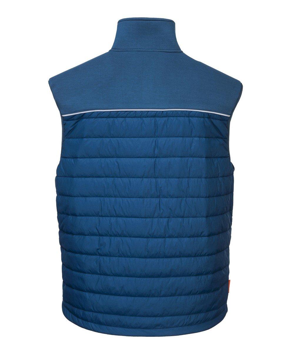 PPG Workwear Portwest DX4 Baffle Gilet DX470 Blue Colour Back View