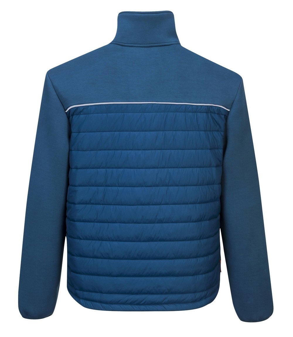PPG Workwear Portwest DX4 Baffle Jacket DX471 Blue Colour Back View