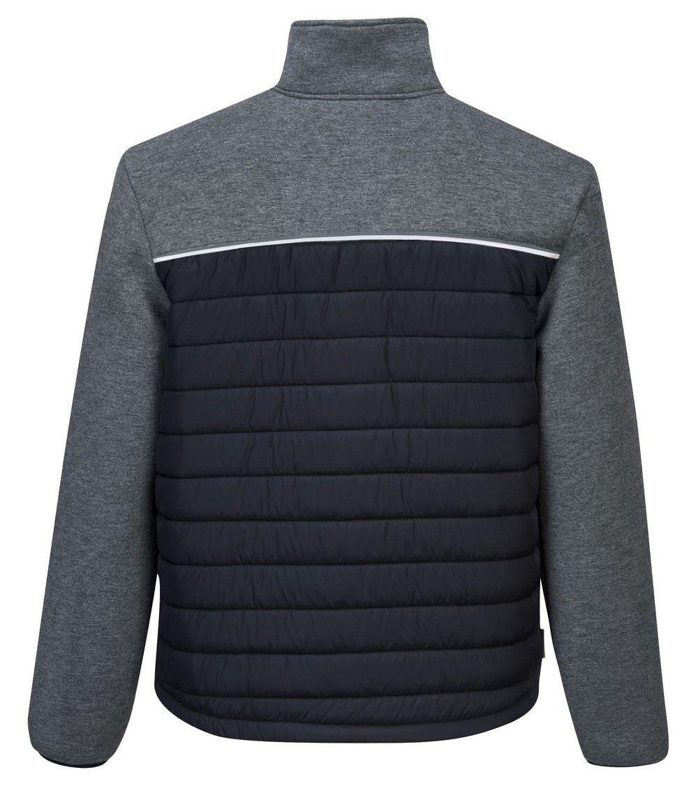 PPG Workwear Portwest DX4 Baffle Jacket DX471 Grey Colour Back View