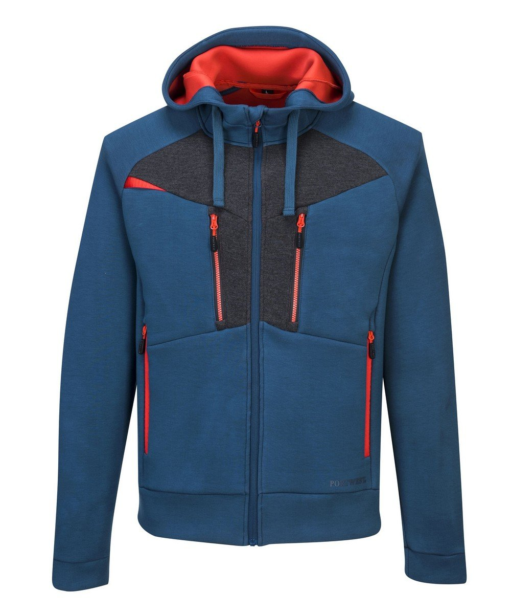 PPG Workwear Portwest DX4 Zipped Hoodie DX472 Blue Colour