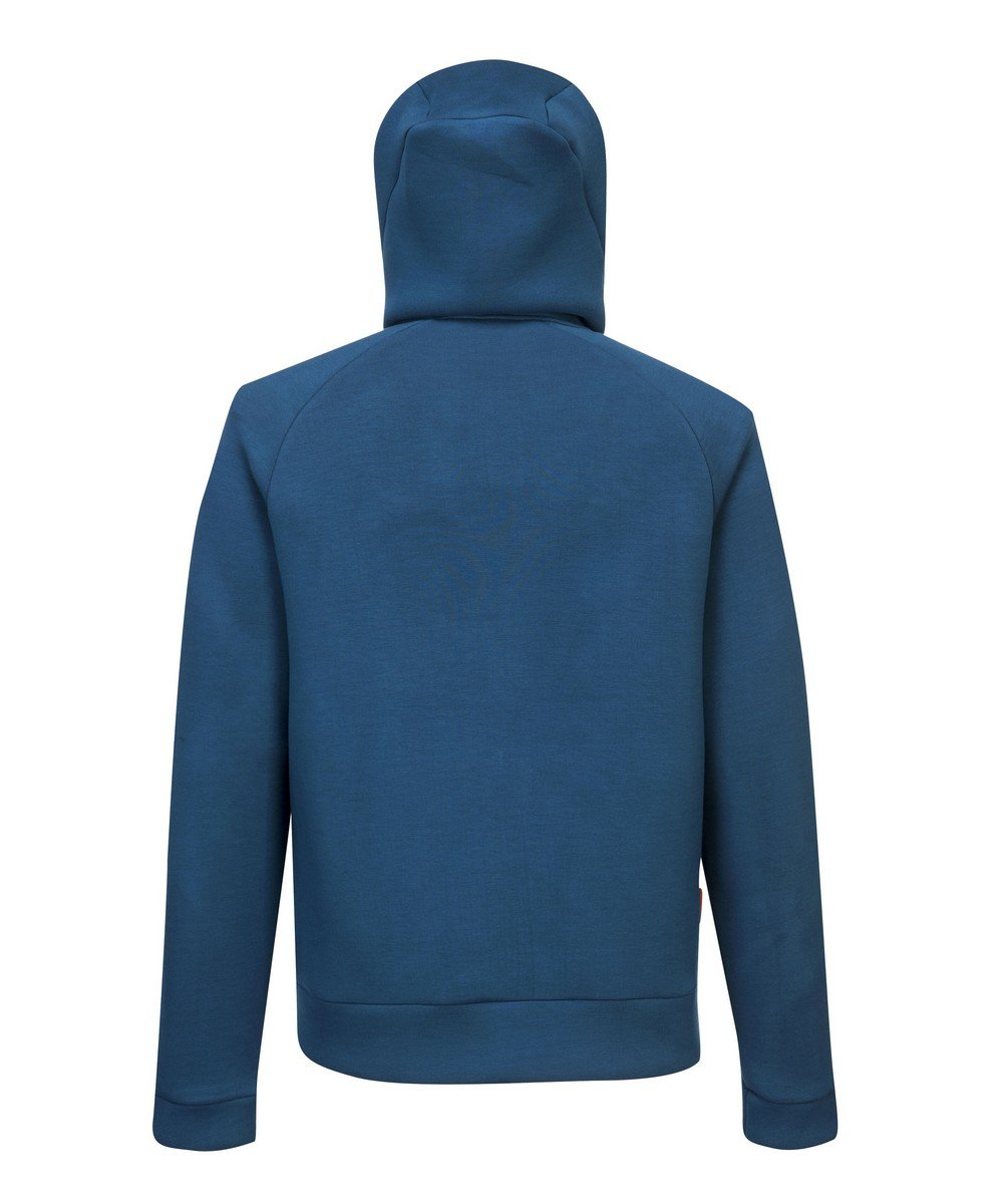 PPG Workwear Portwest DX4 Zipped Hoodie DX472 Blue Colour Back View