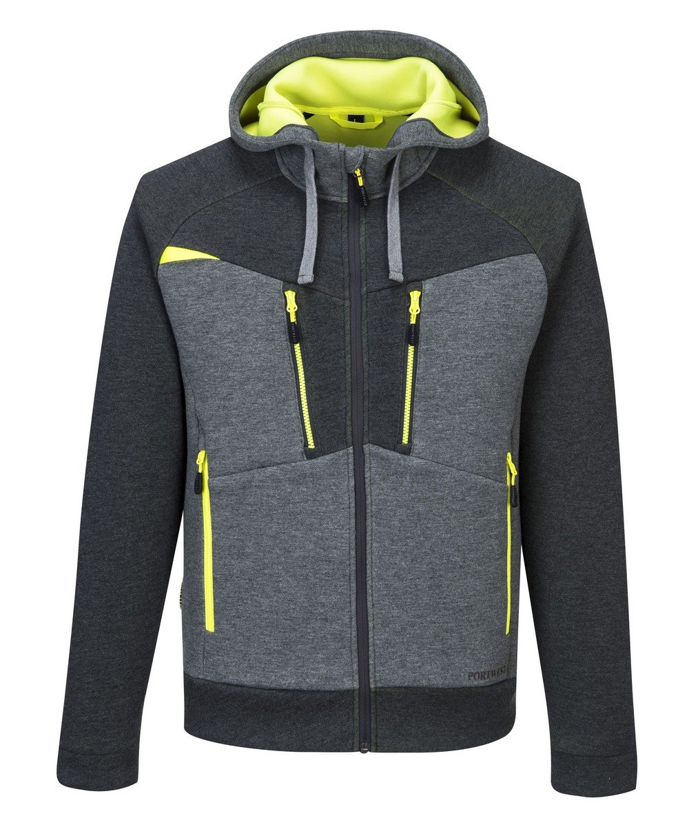 PPG Workwear Portwest DX4 Zipped Hoodie DX472 Grey Colour
