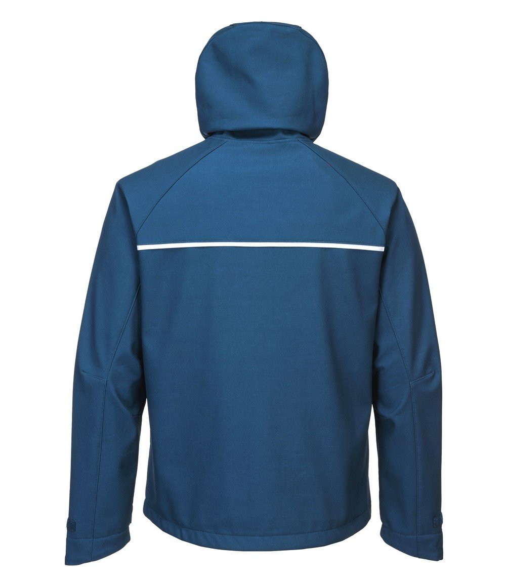 PPG Workwear Portwest DX4 Softshell Jacket DX474 Blue Colour Back View