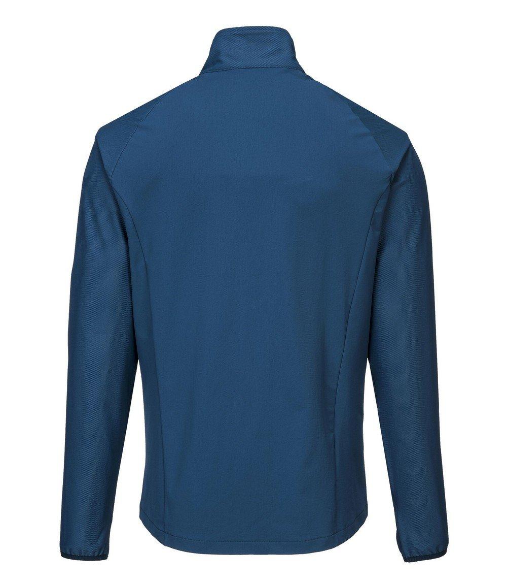 PPG Workwear Portwest DX4 Zip Base Layer Top DX480 Blue Colour Back View