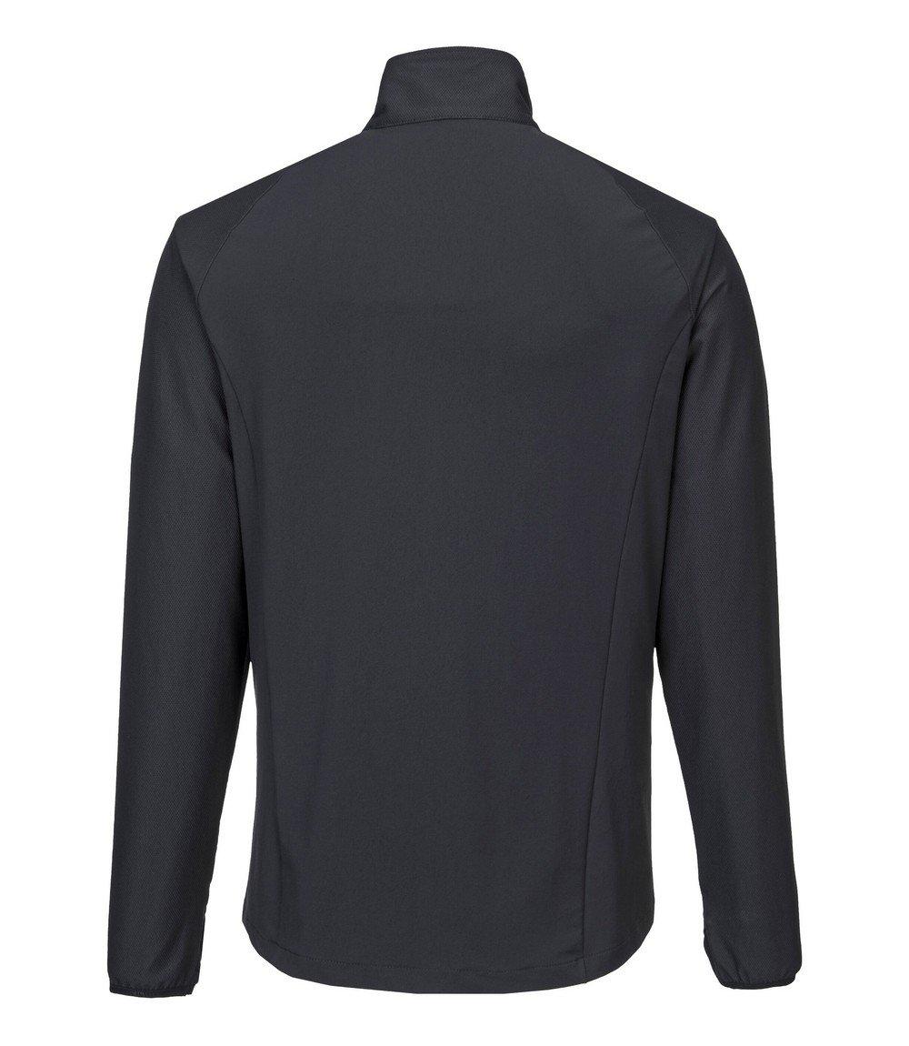 PPG Workwear Portwest DX4 Zip Base Layer Top DX480 Black Colour Back View