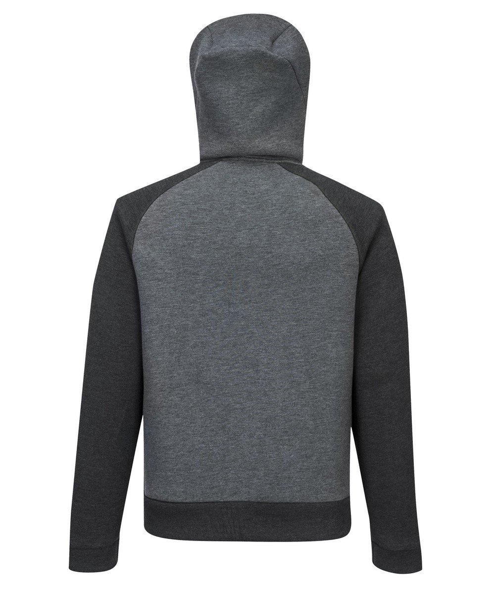 PPG Workwear Portwest DX4 Zipped Hoodie DX472 Grey Colour Back View