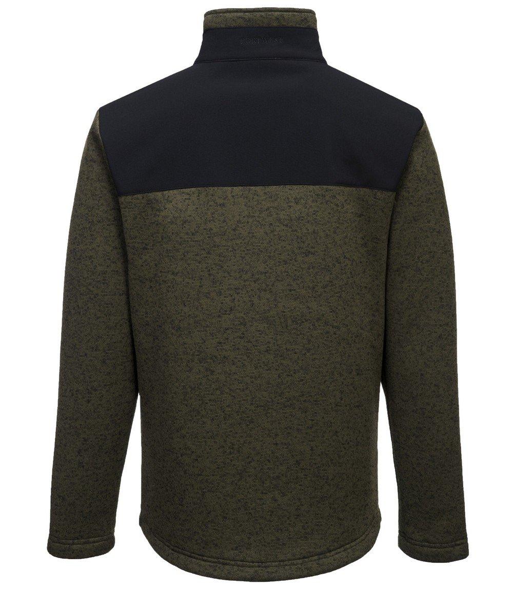 PPG Workwear Portwest KX3 Performance Fleece T830 Grey Colour Back View