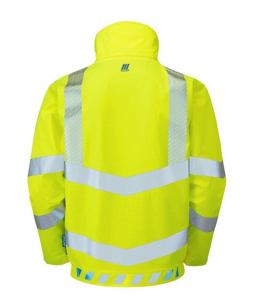 PPG Workwear Pulsar Evolution Hi Vis Bomber Jacket EVO103 Yellow Back View