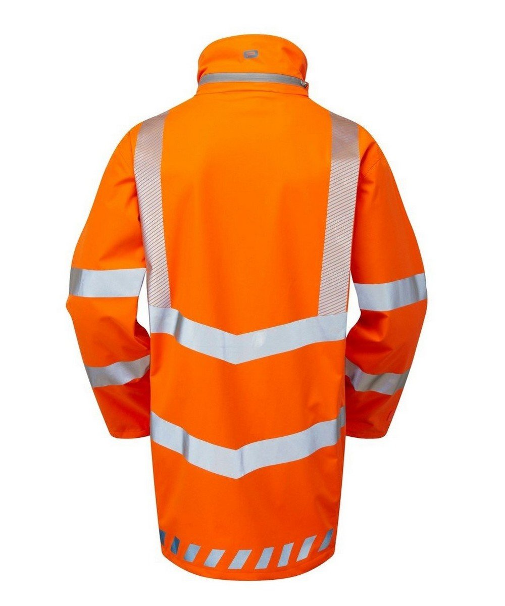 PPG Workwear Pulsar Evolution Rail Spec Storm Coat EVO250 Orange Back View