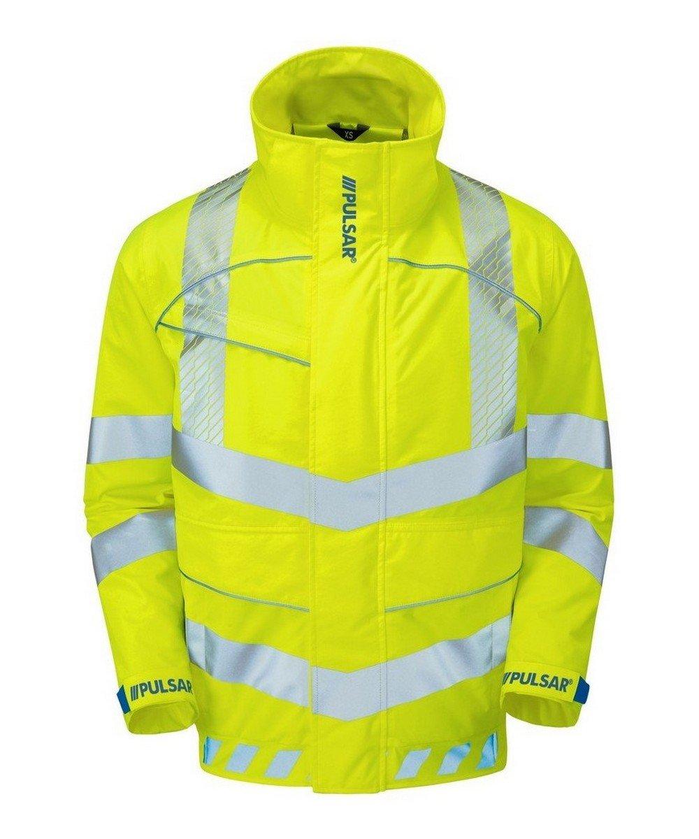 PPG Workwear Pulsar Evolution Hi Vis Bomber Jacket EVO103 Yellow Front View