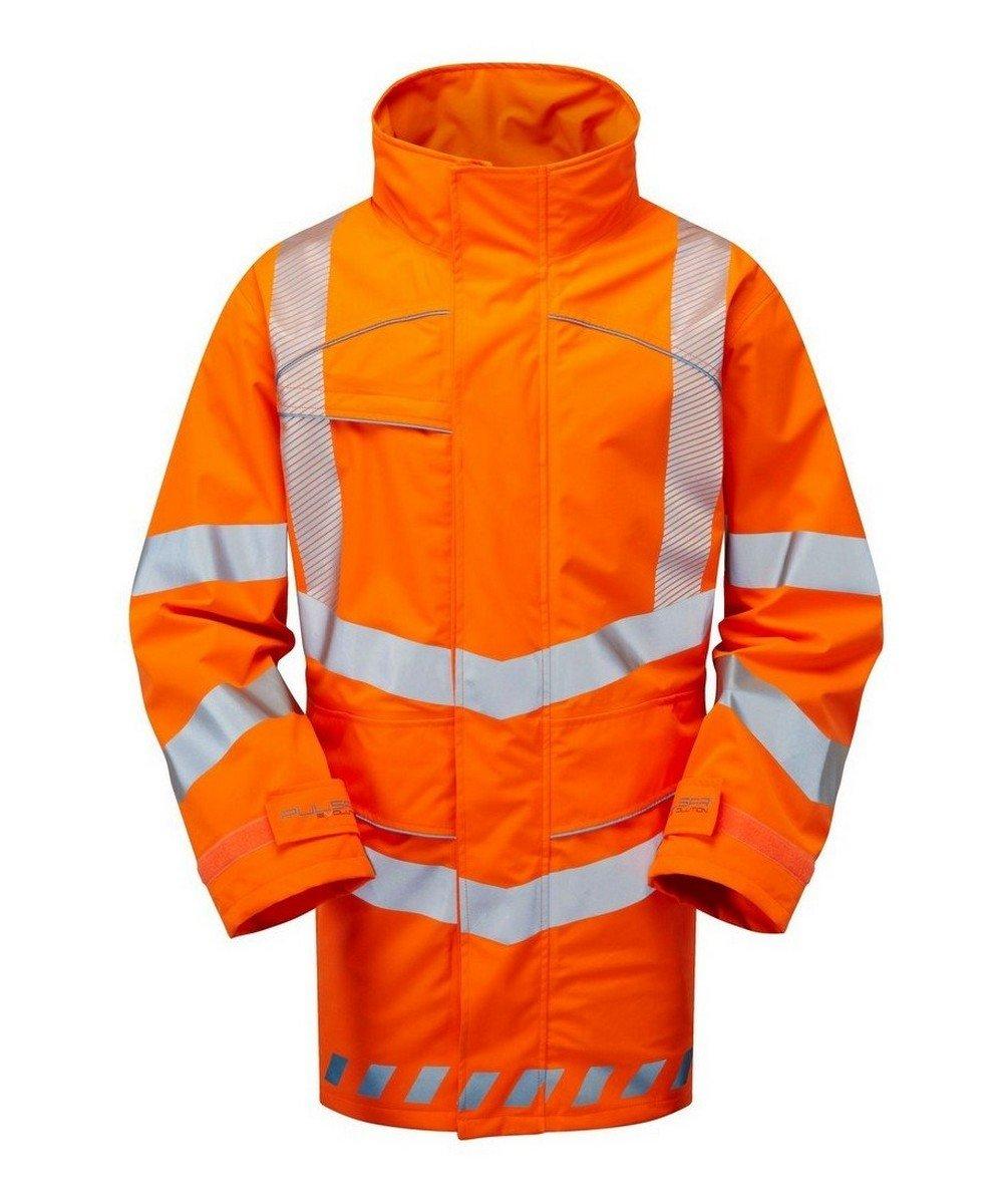 PPG Workwear Pulsar Evolution Rail Spec Storm Coat EVO250 Orange Front View