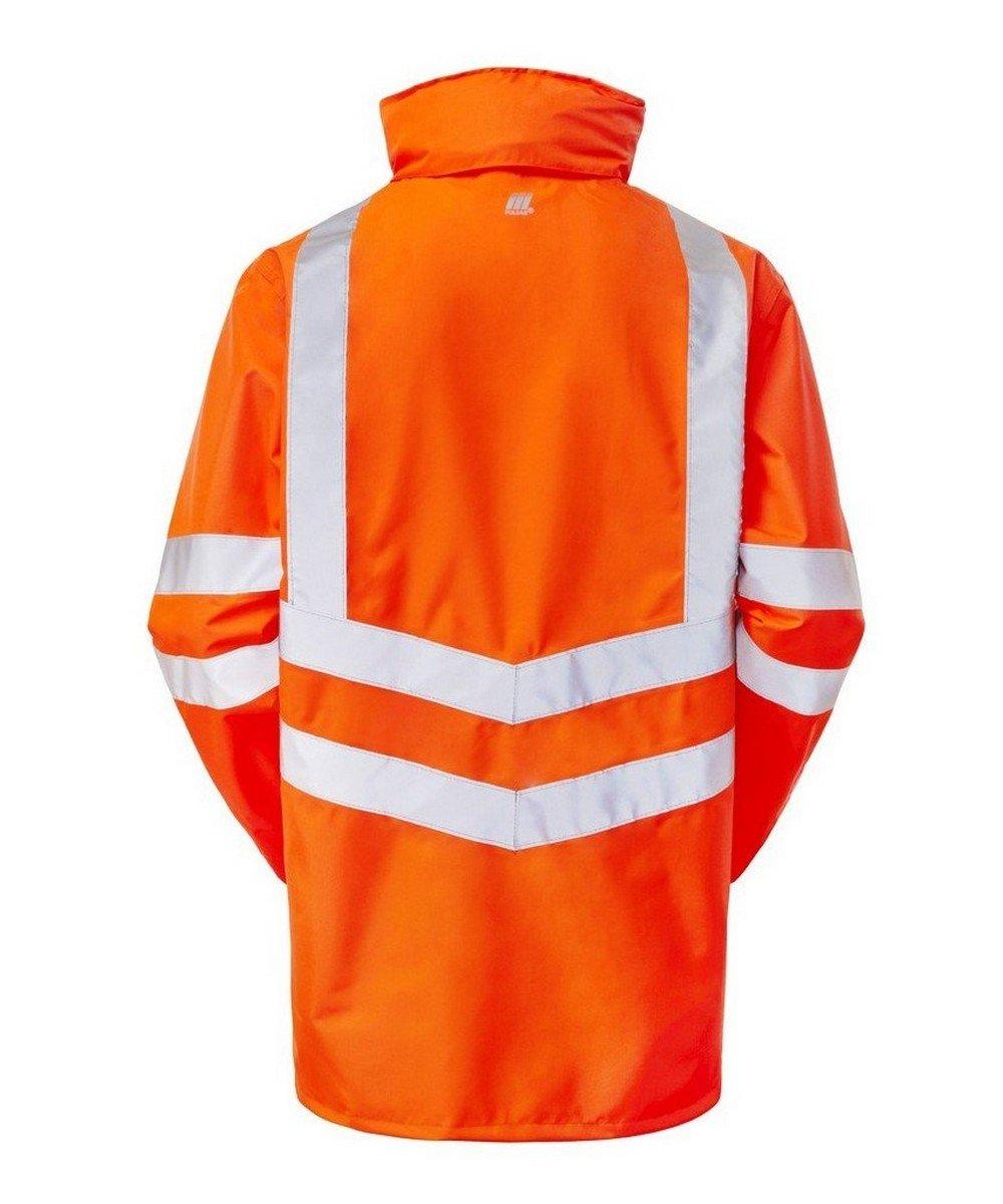 PPG Workwear Pulsar Rail Unlined Storm Coat PR499 Orange Back View
