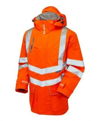 PPG Workwear Pulsar Rail Padded Storm Coat PR502 Orange Front View