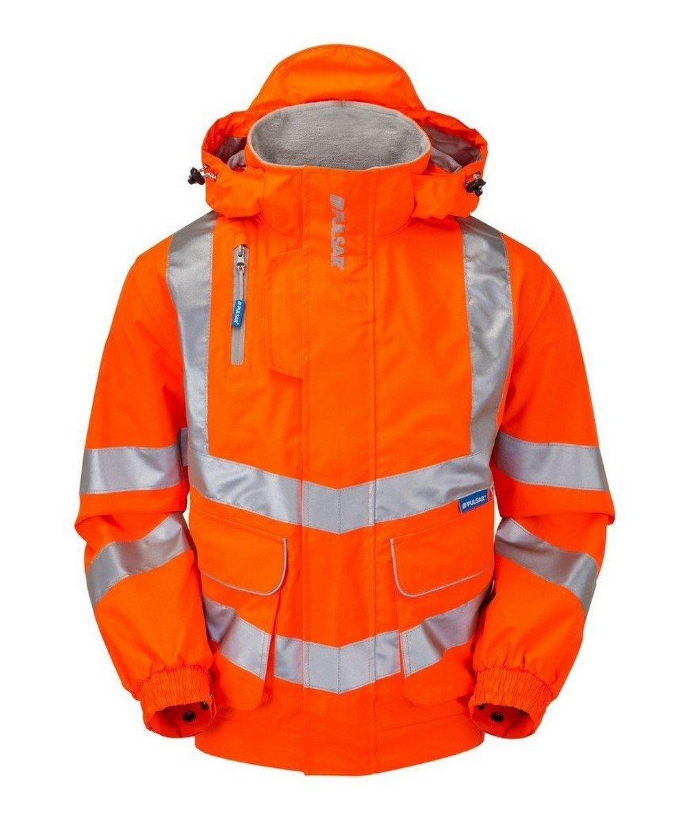 PPG Workwear Pulsar Rail Unlined Bomber Jacket PR515 Orange Front View