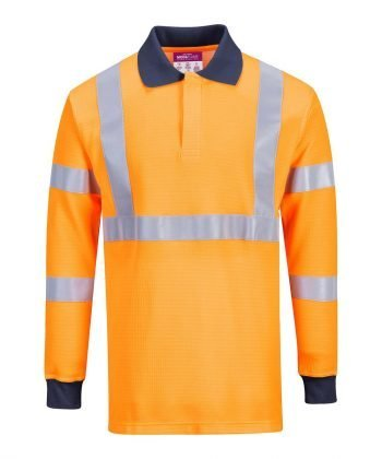 Portwest Flame Resistant Anti Static RIS Polo Shirt FR76 Front View