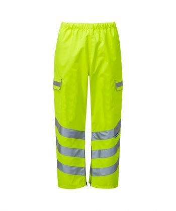Pulsar Hi Vis Waterproof Over Trousers P206TRS Yellow Front View