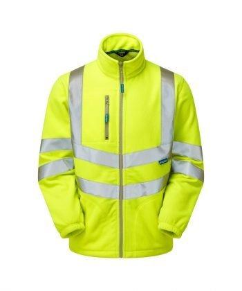 Pulsar Hi Vis Interactive Fleece Jacket P507 Yellow Front View