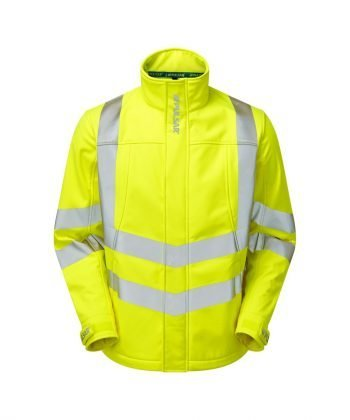 Pulsar Hi Vis Interactive Softshell Jacket P534 Yellow Front View