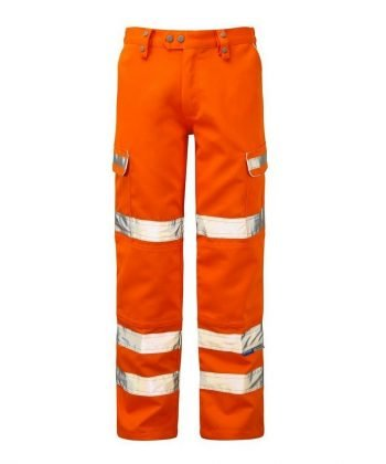 PPG Workwear Pulsar Rail Combat Trousers Orange Front View