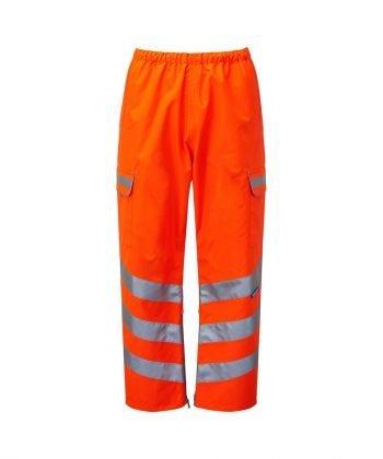 Pulsar Rail Waterproof Over Trousers PR503TRS Orange Front View