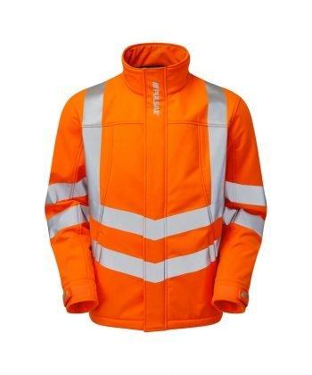 Pulsar Rail Interactive Softshell Jacket PR535 Orange Front View