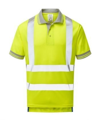 PPG Workwear Pulsar Hi Vis Short Sleeve Polo Shirt P175 Front View