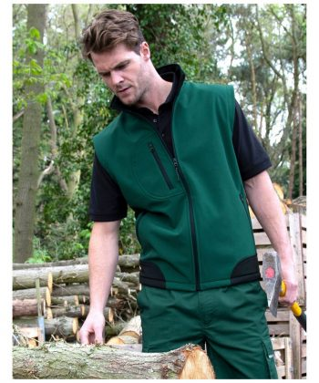 PPG Workwear Result Softshell Bodywarmer R123X Model Green Colour